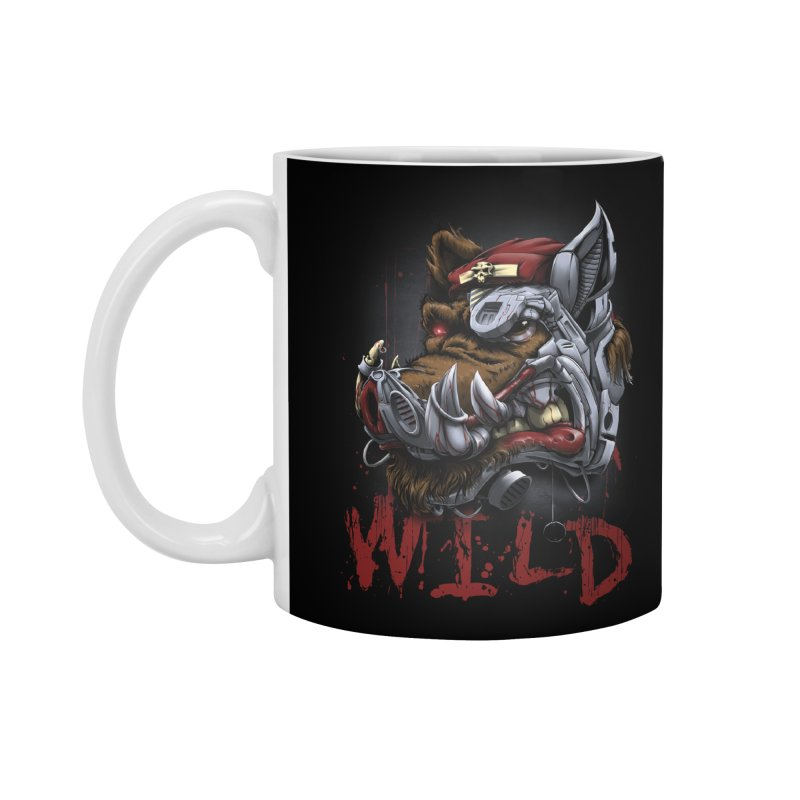 wild boar Accessories Standard Mug by fishark's Artist Shop