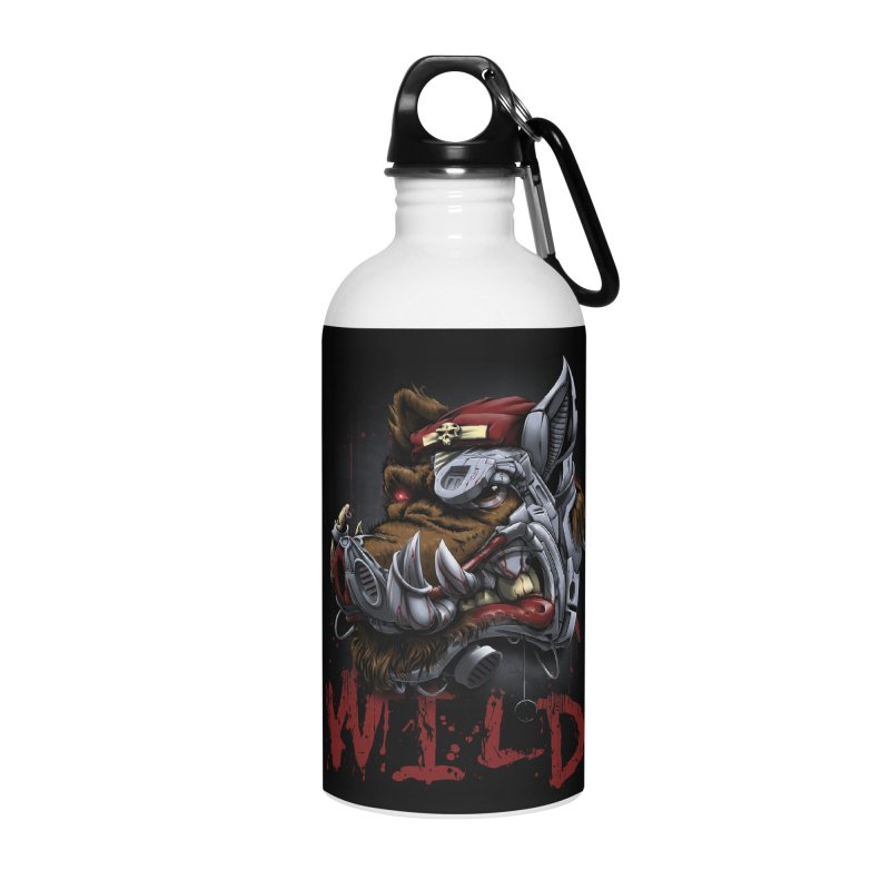 wild boar Accessories Water Bottle by fishark's Artist Shop