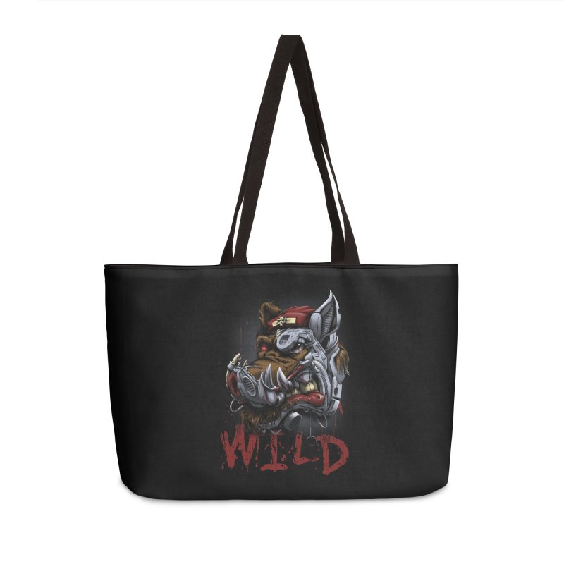 wild boar Accessories Weekender Bag Bag by fishark's Artist Shop