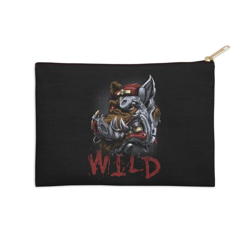 wild boar Accessories Zip Pouch by fishark's Artist Shop