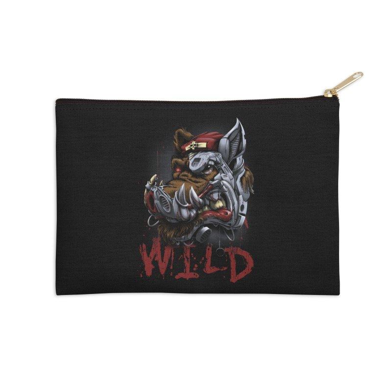 wild boar Accessories Zip Pouch by fishark's Artist Shop