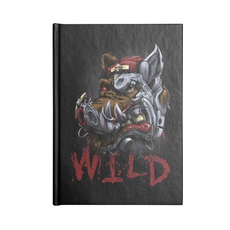 wild boar Accessories Notebook by fishark's Artist Shop