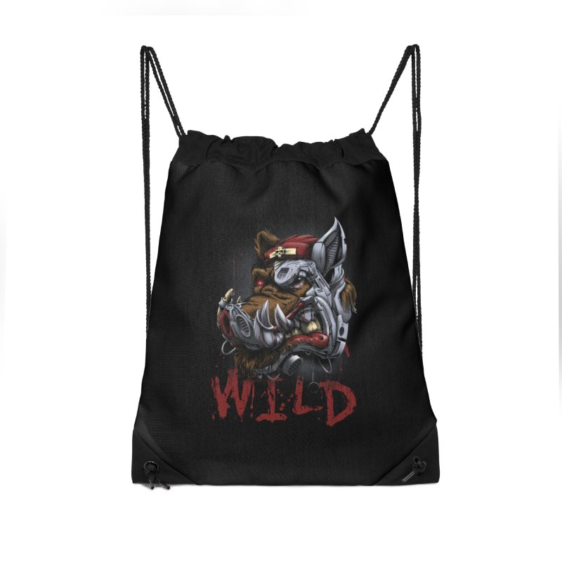 wild boar Accessories Drawstring Bag Bag by fishark's Artist Shop