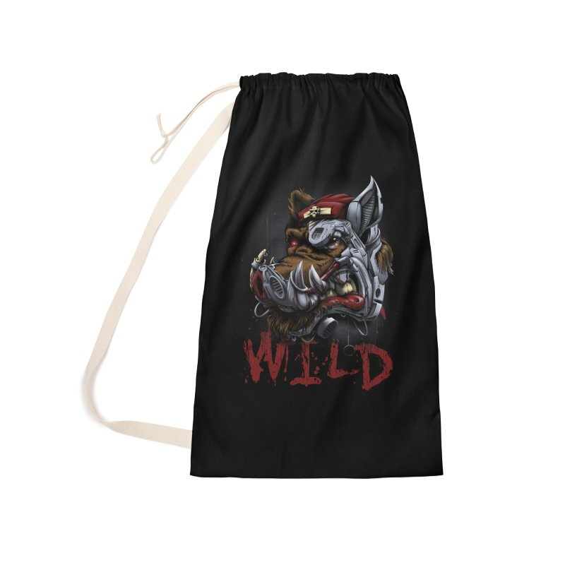 wild boar Accessories Laundry Bag Bag by fishark's Artist Shop
