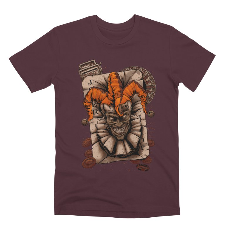 joker Men's Premium T-Shirt by fishark's Artist Shop