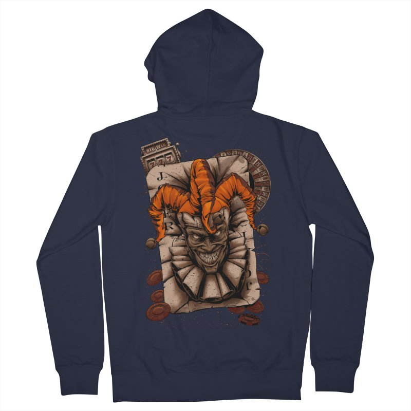 joker Men's French Terry Zip-Up Hoody by fishark's Artist Shop