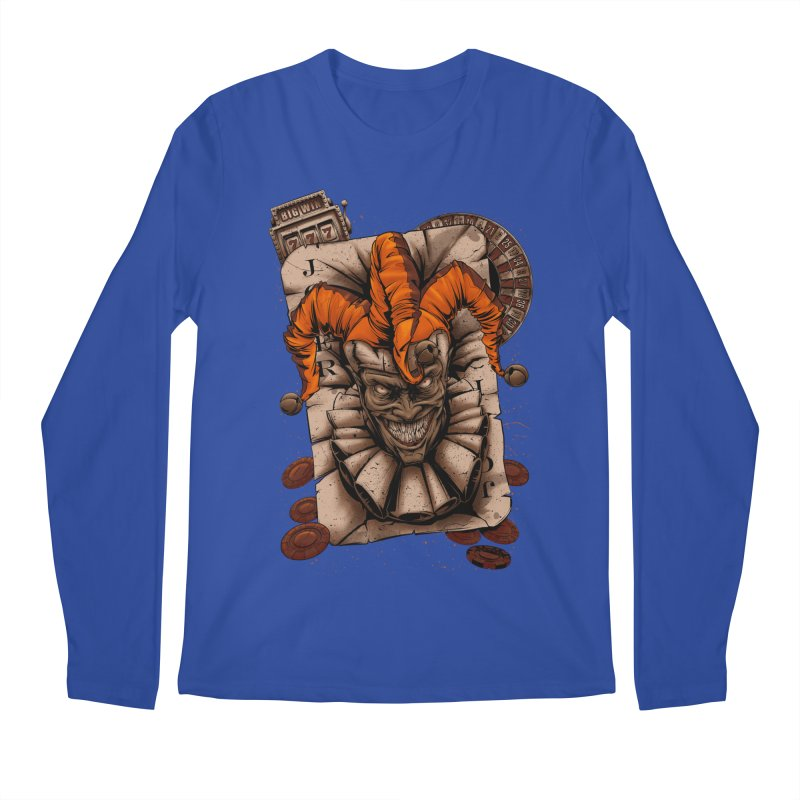 joker Men's Regular Longsleeve T-Shirt by fishark's Artist Shop