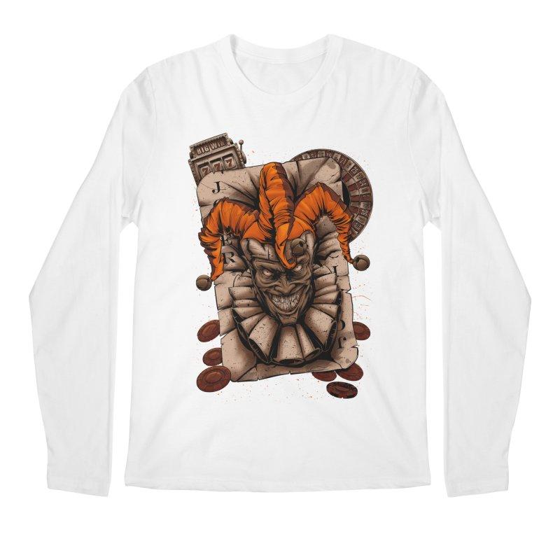 joker Men's Regular Longsleeve T-Shirt by fishark's Artist Shop