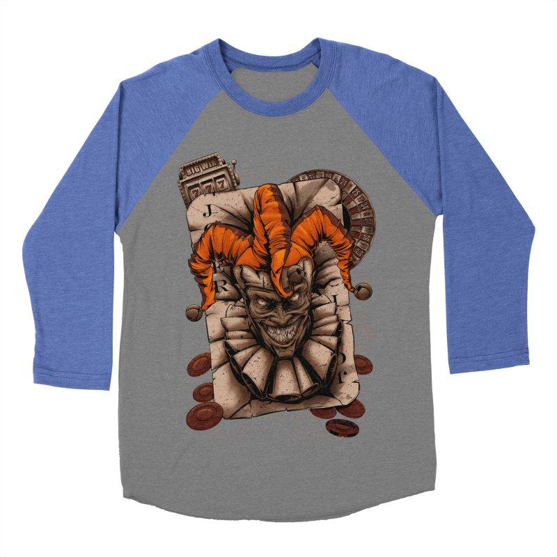 joker Women's Baseball Triblend Longsleeve T-Shirt by fishark's Artist Shop