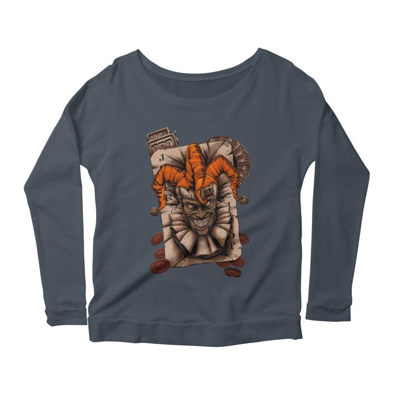 joker Women's Scoop Neck Longsleeve T-Shirt by fishark's Artist Shop