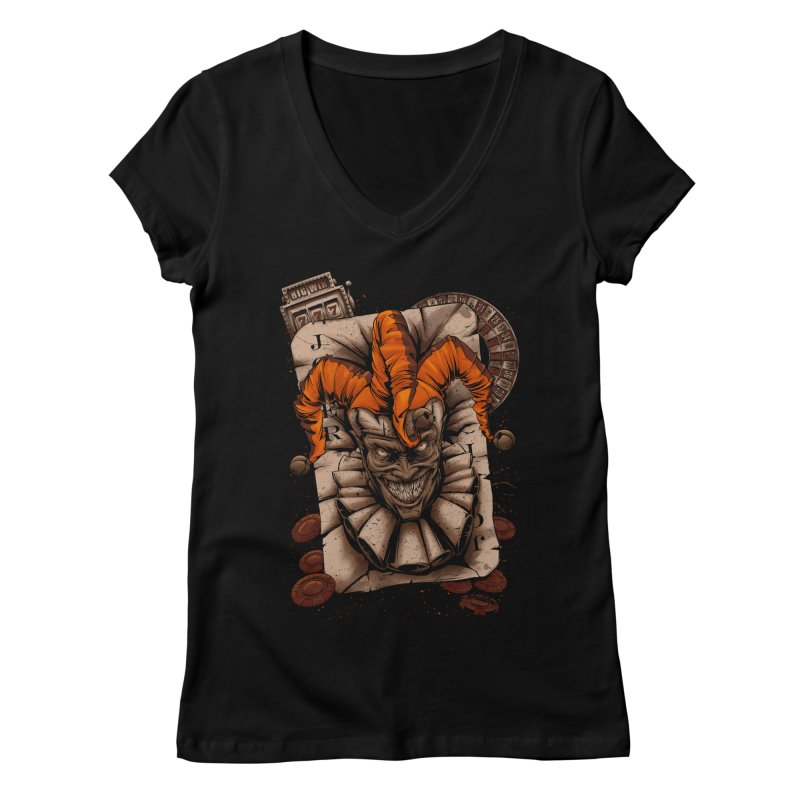 joker Women's Regular V-Neck by fishark's Artist Shop