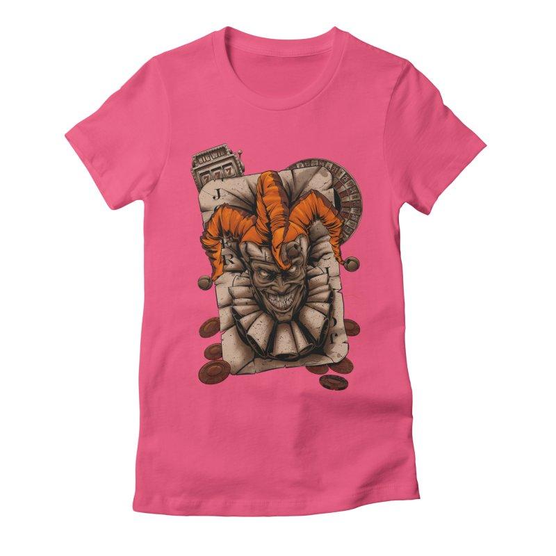 joker Women's Fitted T-Shirt by fishark's Artist Shop