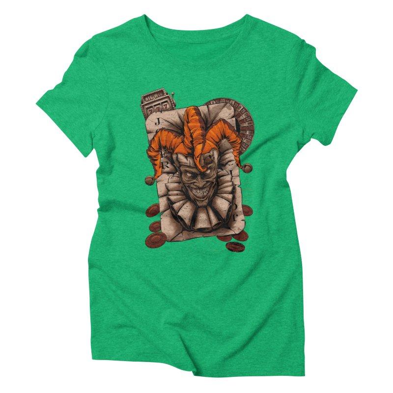 joker Women's Triblend T-Shirt by fishark's Artist Shop