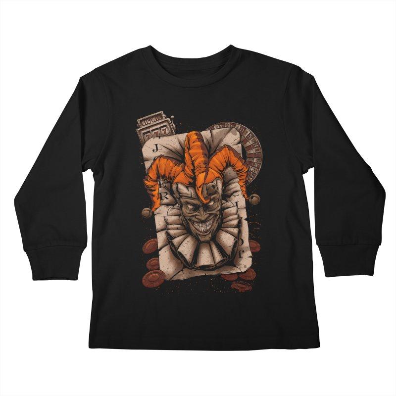 joker Kids Longsleeve T-Shirt by fishark's Artist Shop