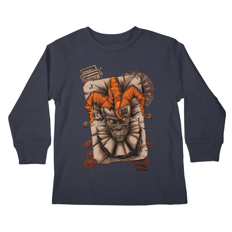 joker Kids Longsleeve T-Shirt by fishark's Artist Shop