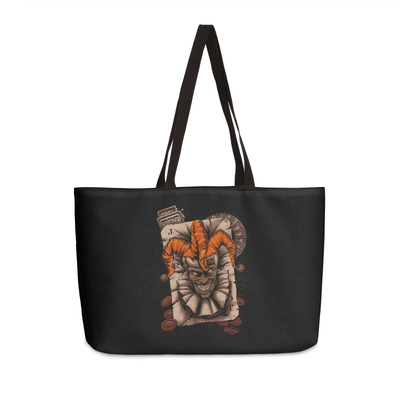 joker Accessories Weekender Bag Bag by fishark's Artist Shop