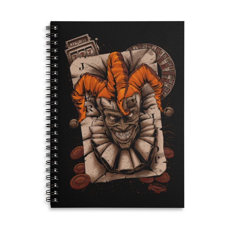 joker Accessories Lined Spiral Notebook by fishark's Artist Shop