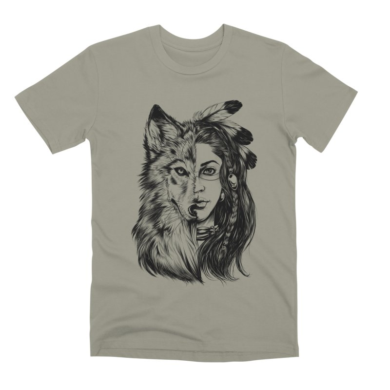 girl wolf Men's Premium T-Shirt by fishark's Artist Shop