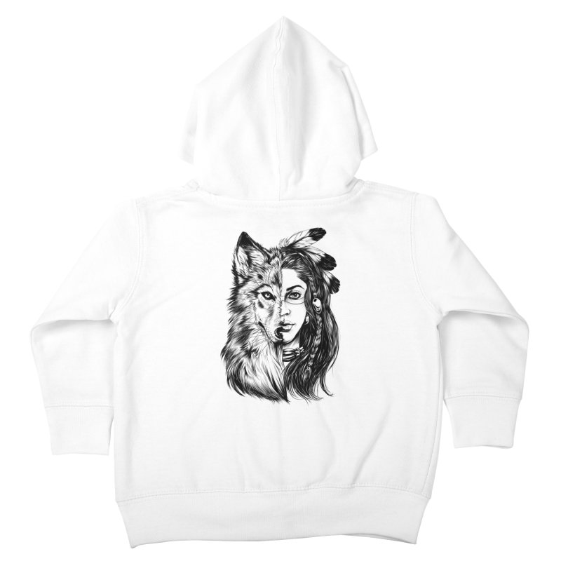girl wolf Kids Toddler Zip-Up Hoody by fishark's Artist Shop