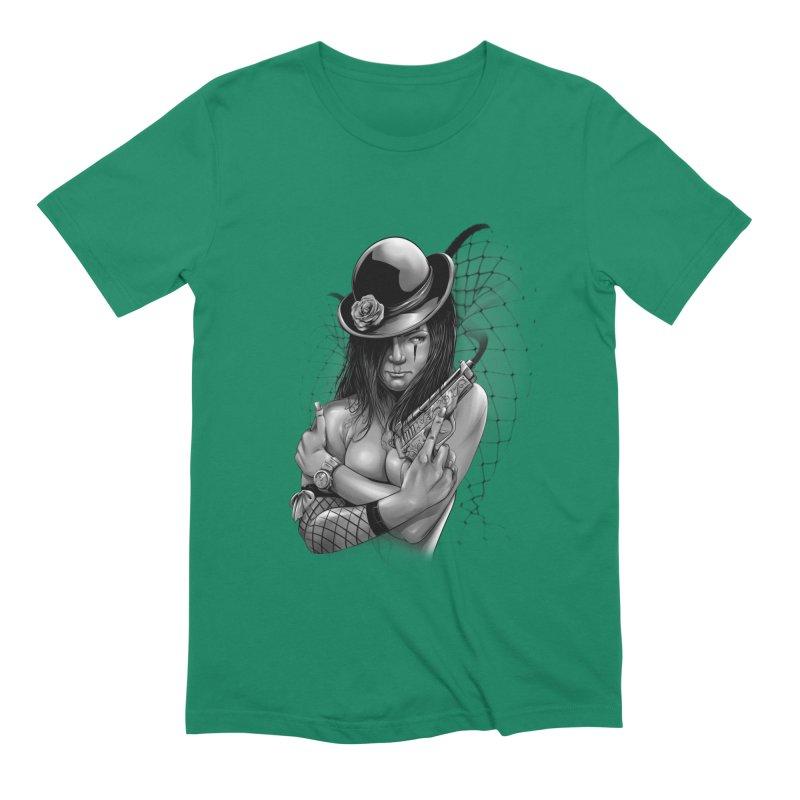 girl with gun Men's Extra Soft T-Shirt by fishark's Artist Shop