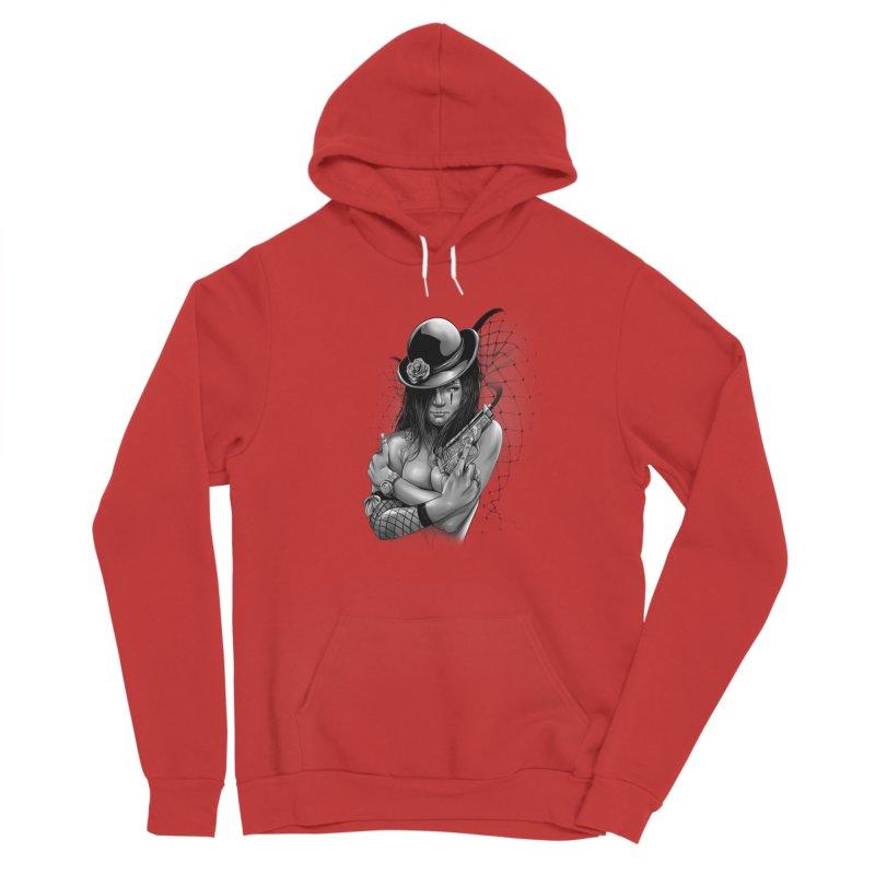 girl with gun Women's Pullover Hoody by fishark's Artist Shop