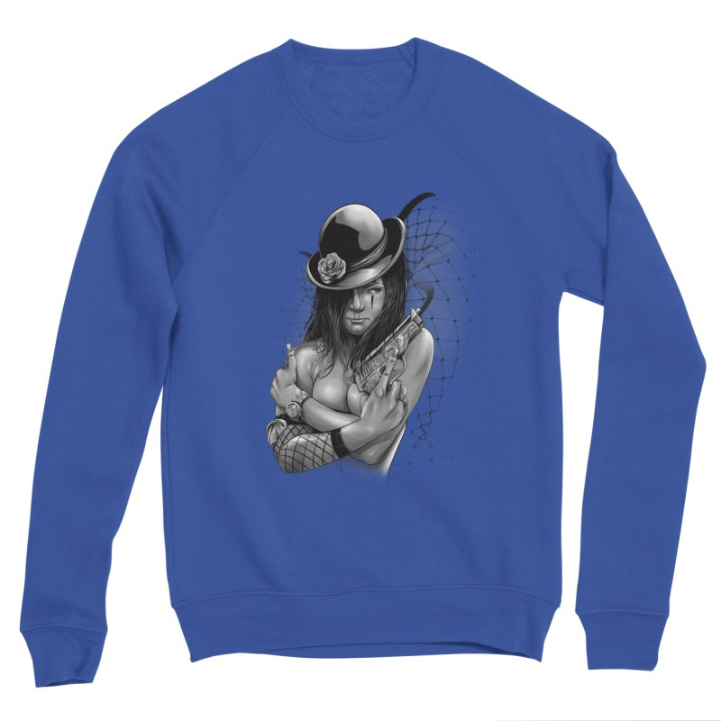 girl with gun Men's Sweatshirt by fishark's Artist Shop