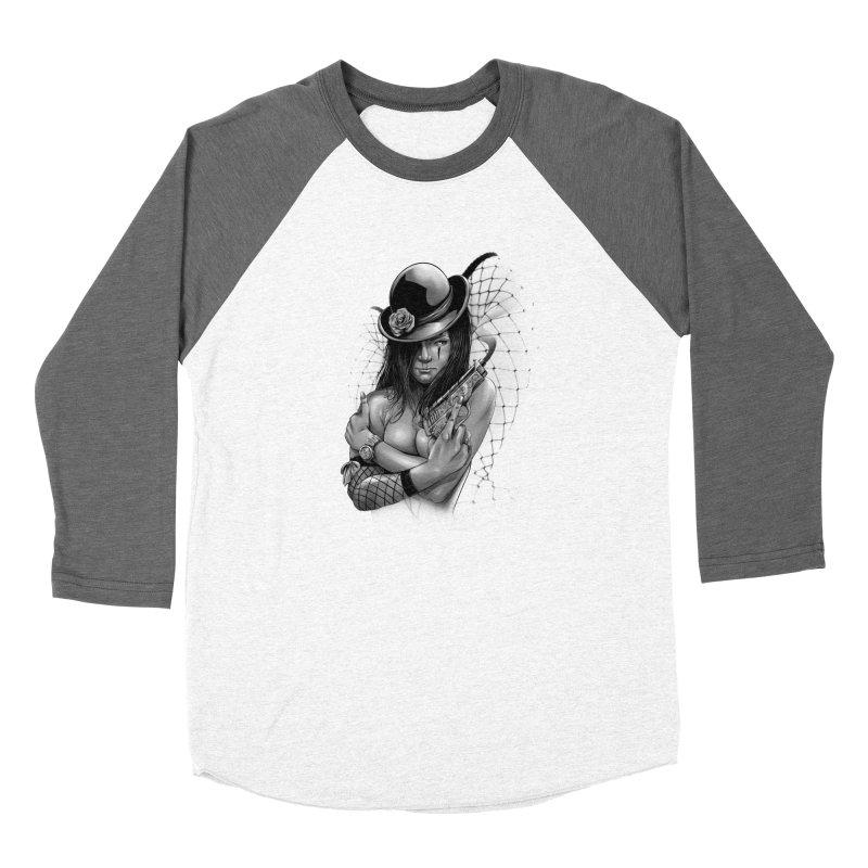 girl with gun Women's Longsleeve T-Shirt by fishark's Artist Shop