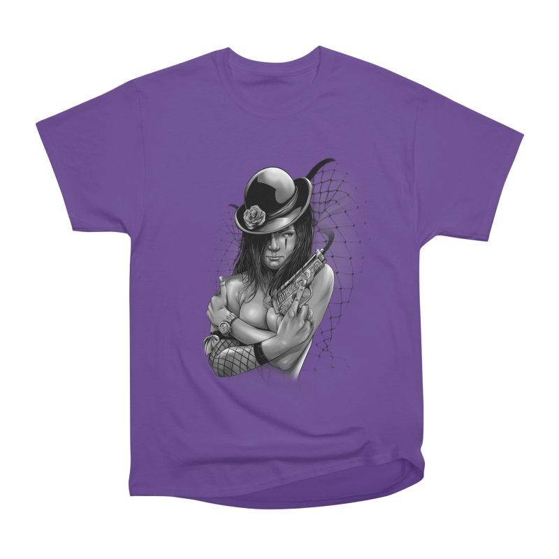 girl with gun Men's Heavyweight T-Shirt by fishark's Artist Shop