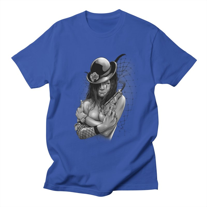 girl with gun Men's Regular T-Shirt by fishark's Artist Shop