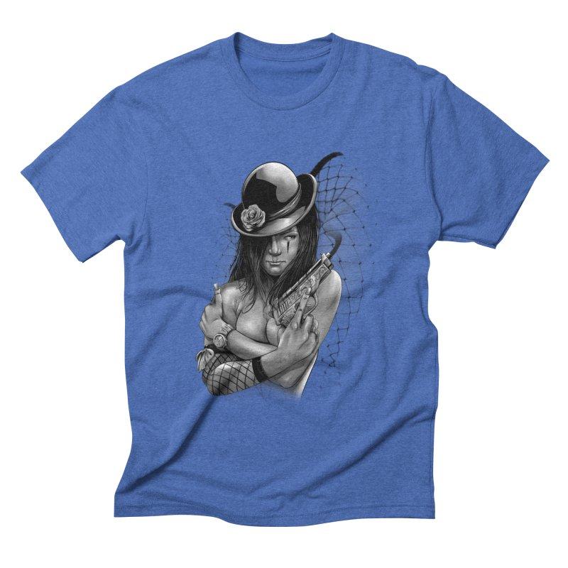 girl with gun Men's T-Shirt by fishark's Artist Shop