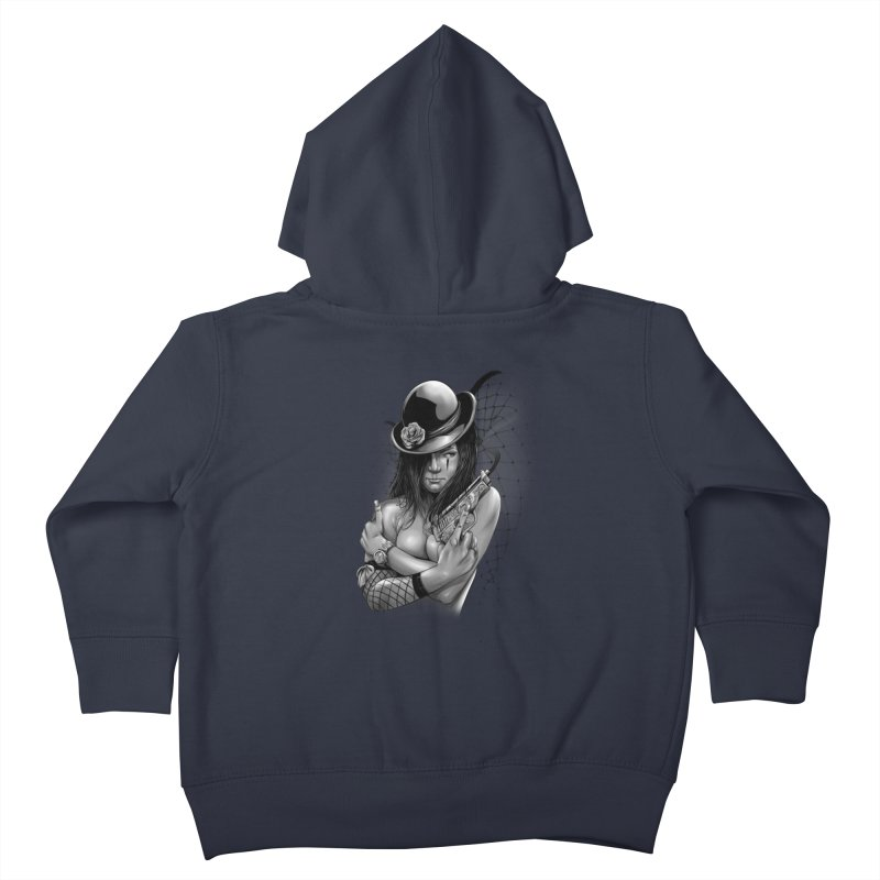 girl with gun Kids Toddler Zip-Up Hoody by fishark's Artist Shop