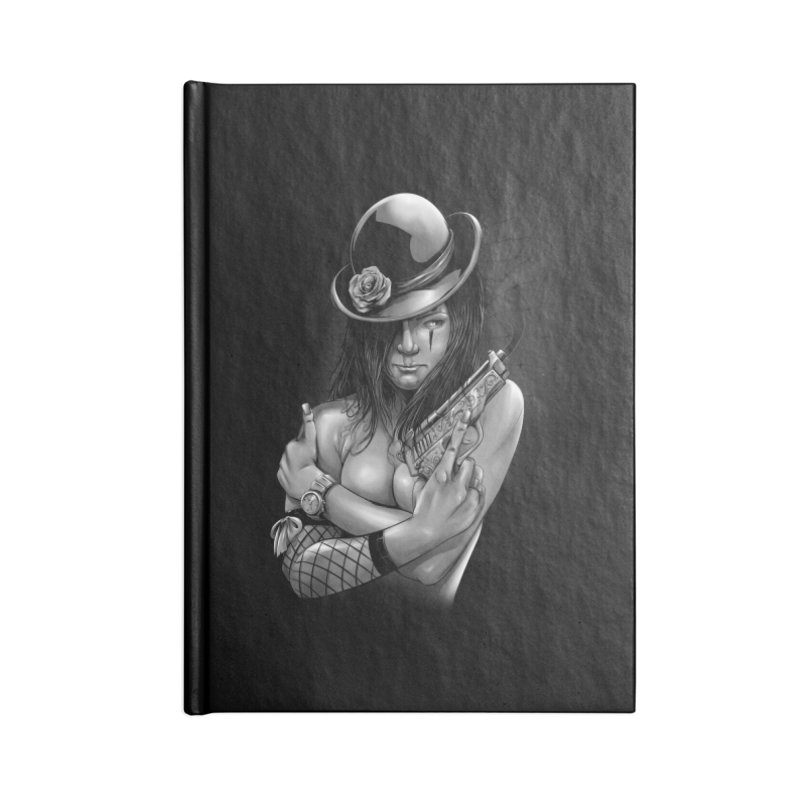girl with gun Accessories Blank Journal Notebook by fishark's Artist Shop