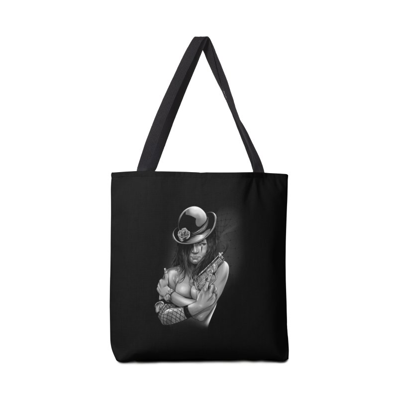 girl with gun Accessories Tote Bag Bag by fishark's Artist Shop