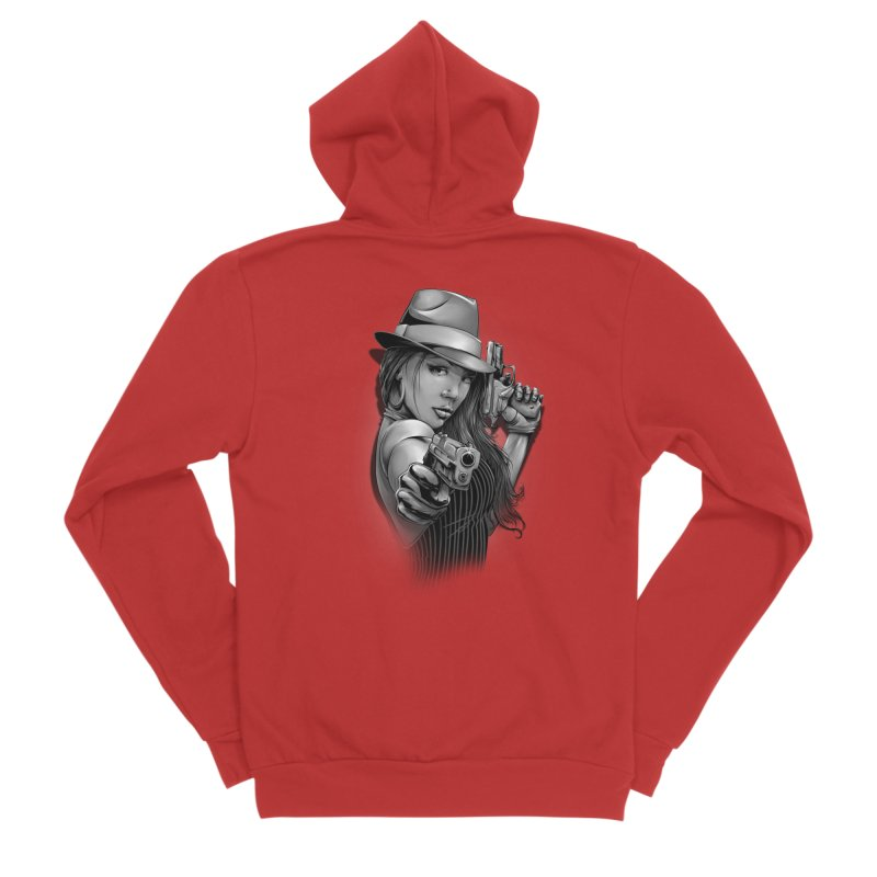 girl with gun Men's Zip-Up Hoody by fishark's Artist Shop