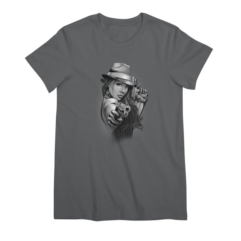 girl with gun Women's T-Shirt by fishark's Artist Shop