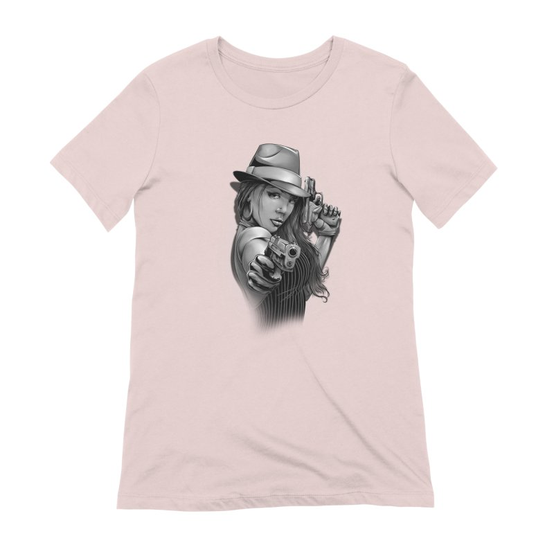 girl with gun Women's Extra Soft T-Shirt by fishark's Artist Shop