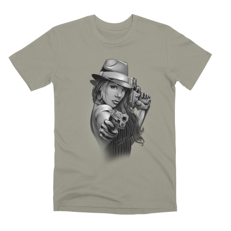 girl with gun Men's Premium T-Shirt by fishark's Artist Shop