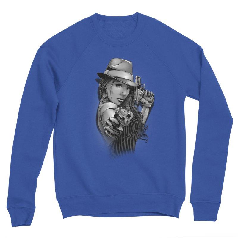 girl with gun Women's Sponge Fleece Sweatshirt by fishark's Artist Shop