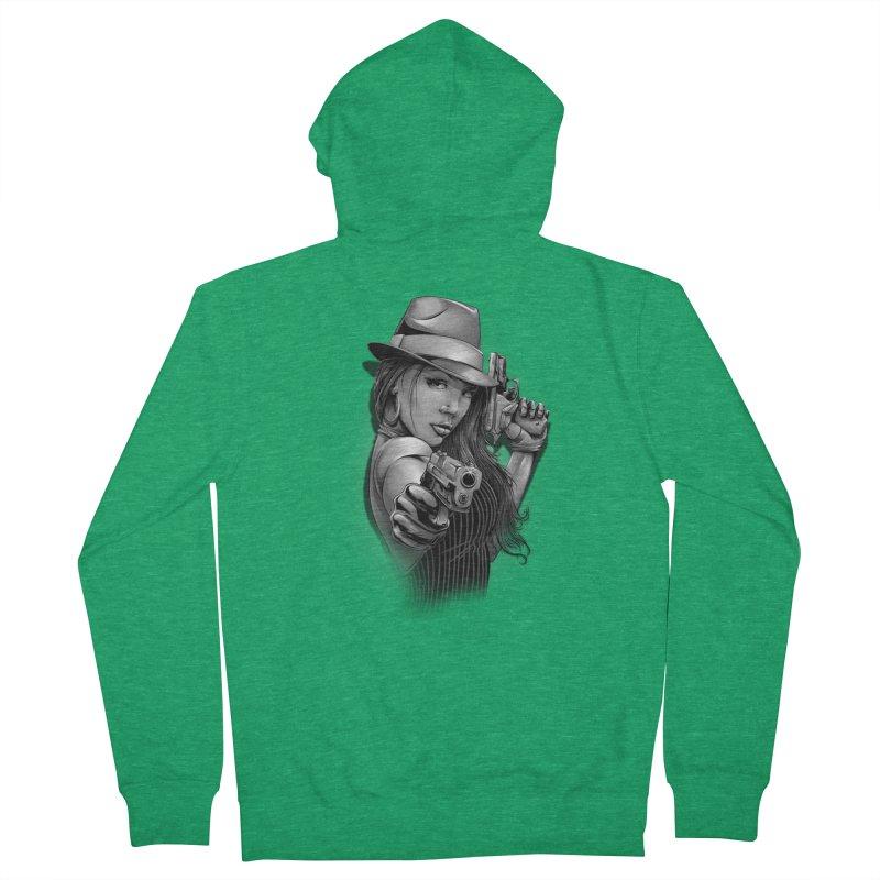 girl with gun Women's Zip-Up Hoody by fishark's Artist Shop