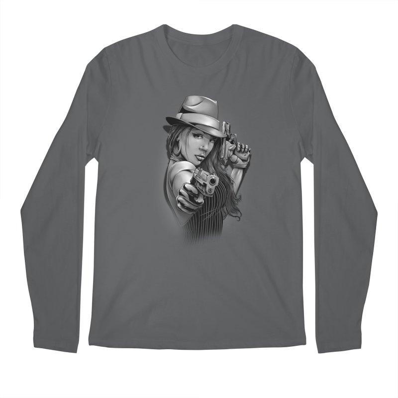 girl with gun Men's Longsleeve T-Shirt by fishark's Artist Shop