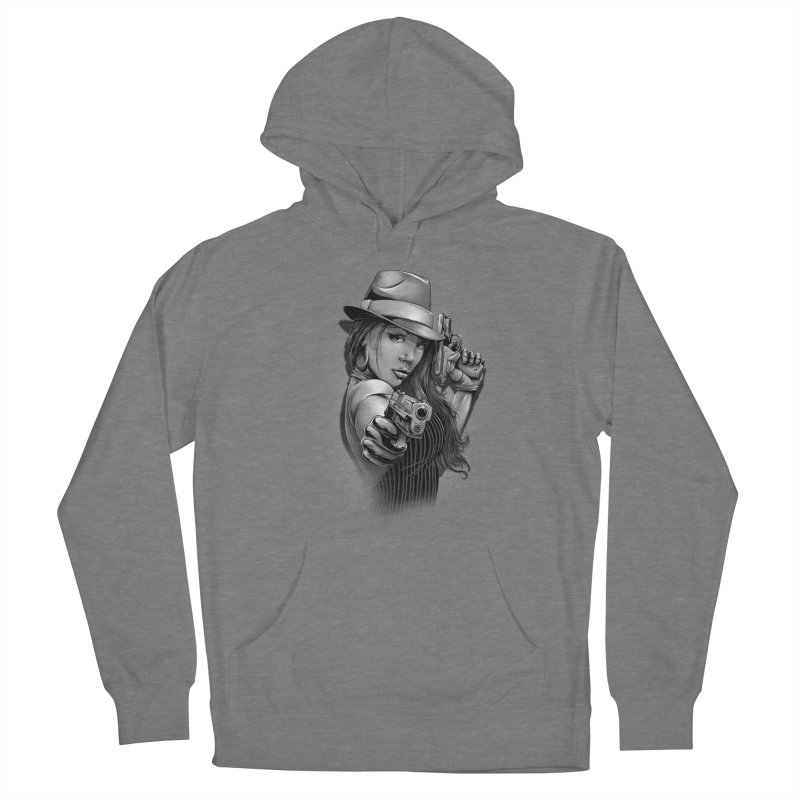 girl with gun Women's Pullover Hoody by fishark's Artist Shop