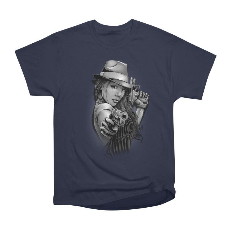 girl with gun Women's Heavyweight Unisex T-Shirt by fishark's Artist Shop