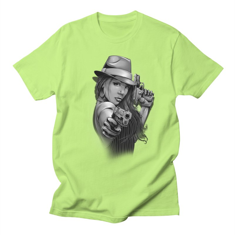 girl with gun Men's Regular T-Shirt by fishark's Artist Shop
