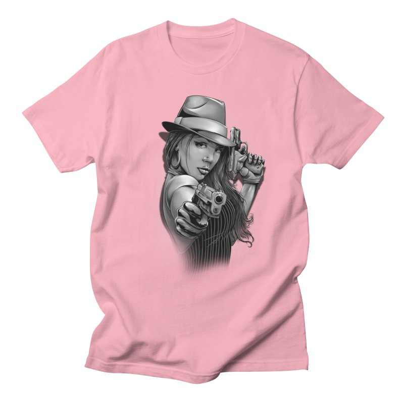 girl with gun Women's Regular Unisex T-Shirt by fishark's Artist Shop