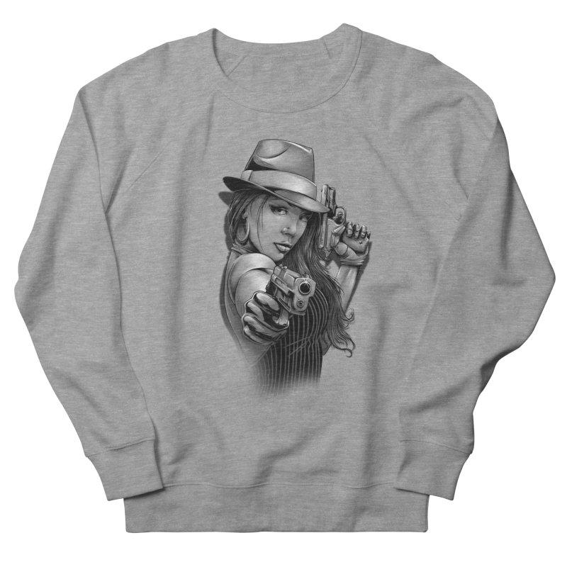 girl with gun Women's French Terry Sweatshirt by fishark's Artist Shop