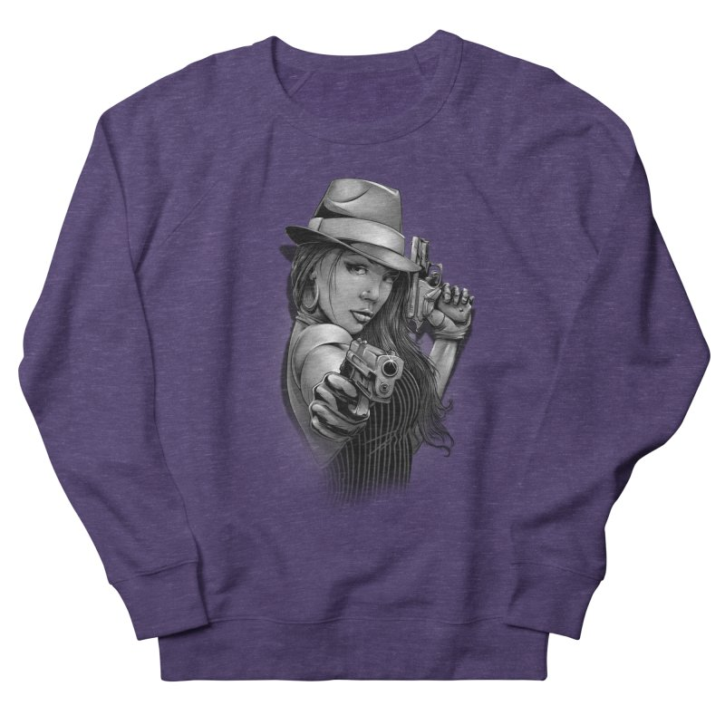 girl with gun Men's French Terry Sweatshirt by fishark's Artist Shop