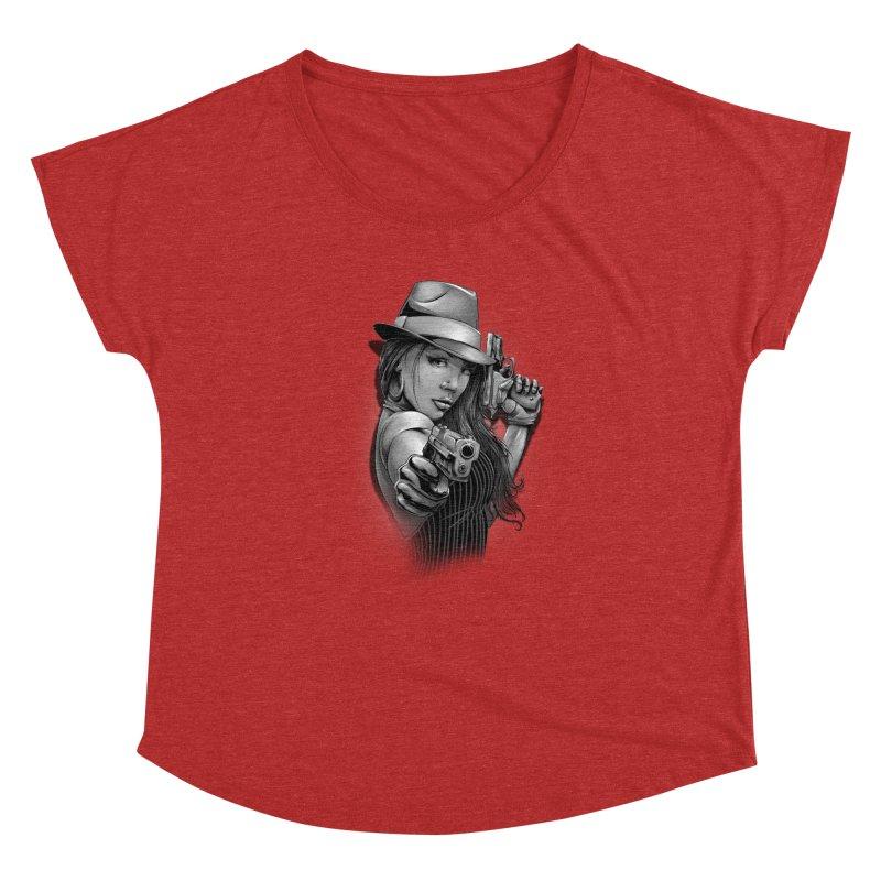 girl with gun Women's Dolman Scoop Neck by fishark's Artist Shop