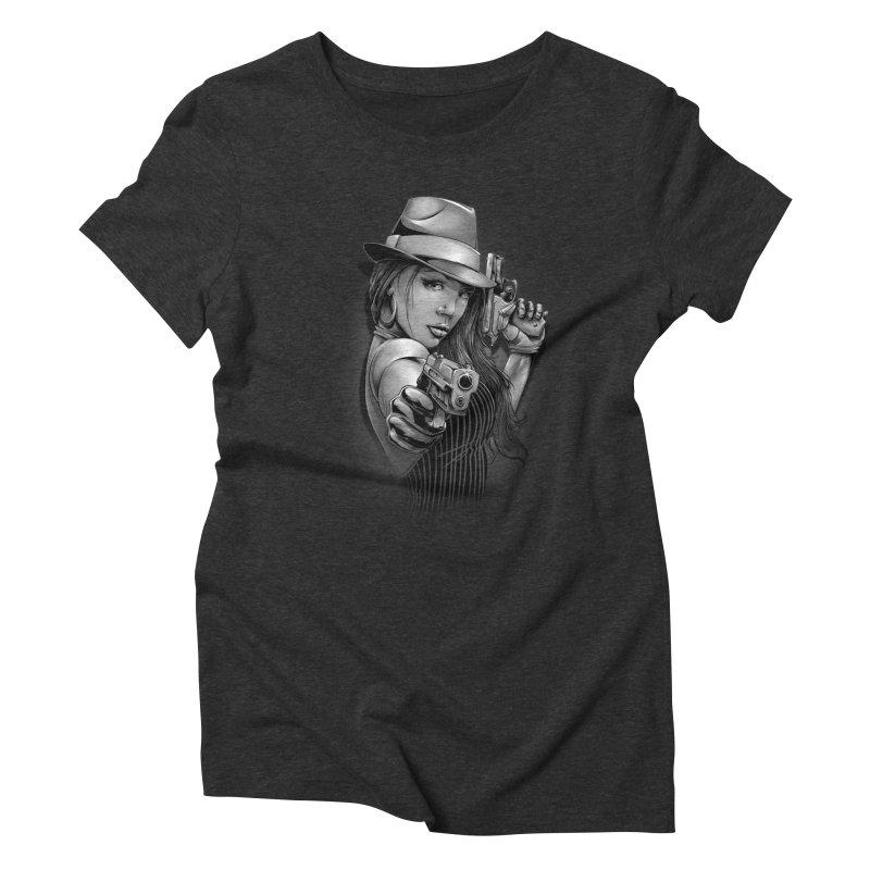 girl with gun Women's Triblend T-Shirt by fishark's Artist Shop