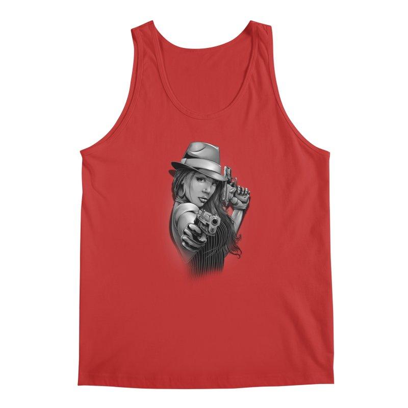 girl with gun Men's Regular Tank by fishark's Artist Shop