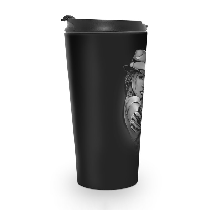 girl with gun Accessories Travel Mug by fishark's Artist Shop